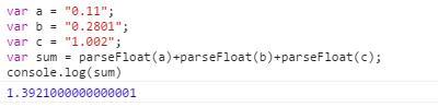 parseFloat